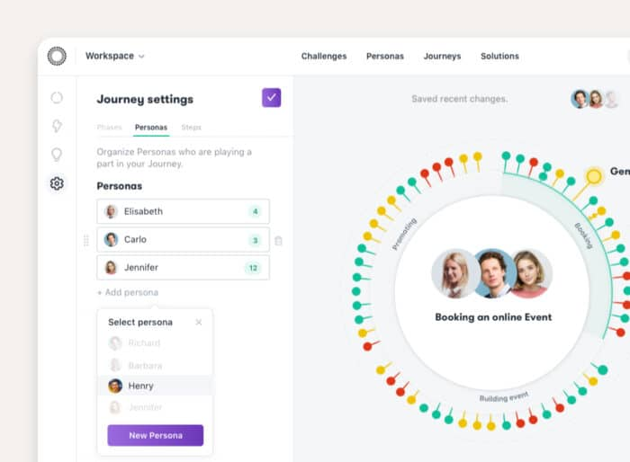 Manage Personas in your Journeys