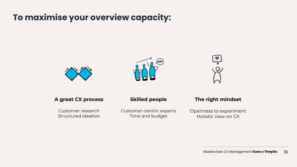 cx management maximise your overview capacity